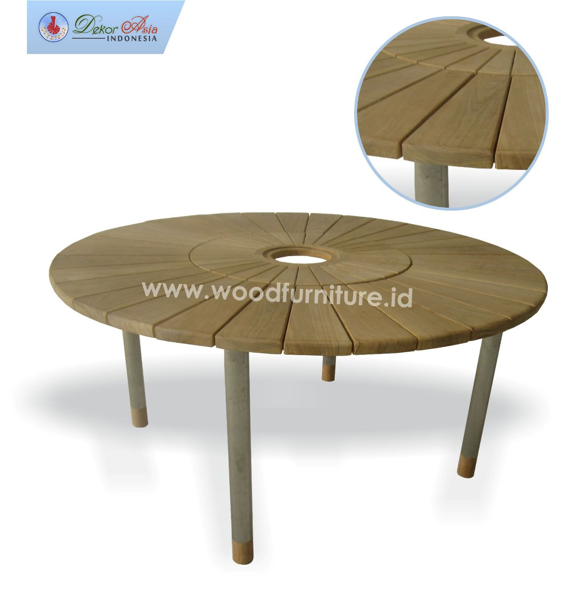 ROUND TABLE 160 PACIFIC STEEL FRAME