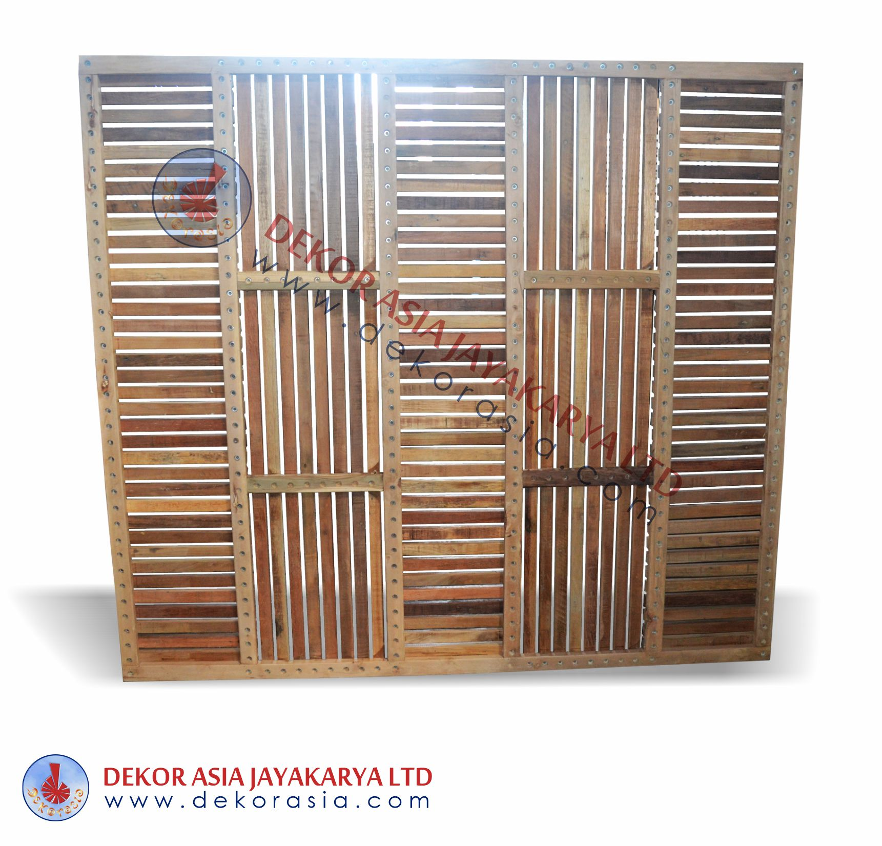 Teak Timber Screen Wooden Screen Recycled teak timber screen for indoor and outdoor