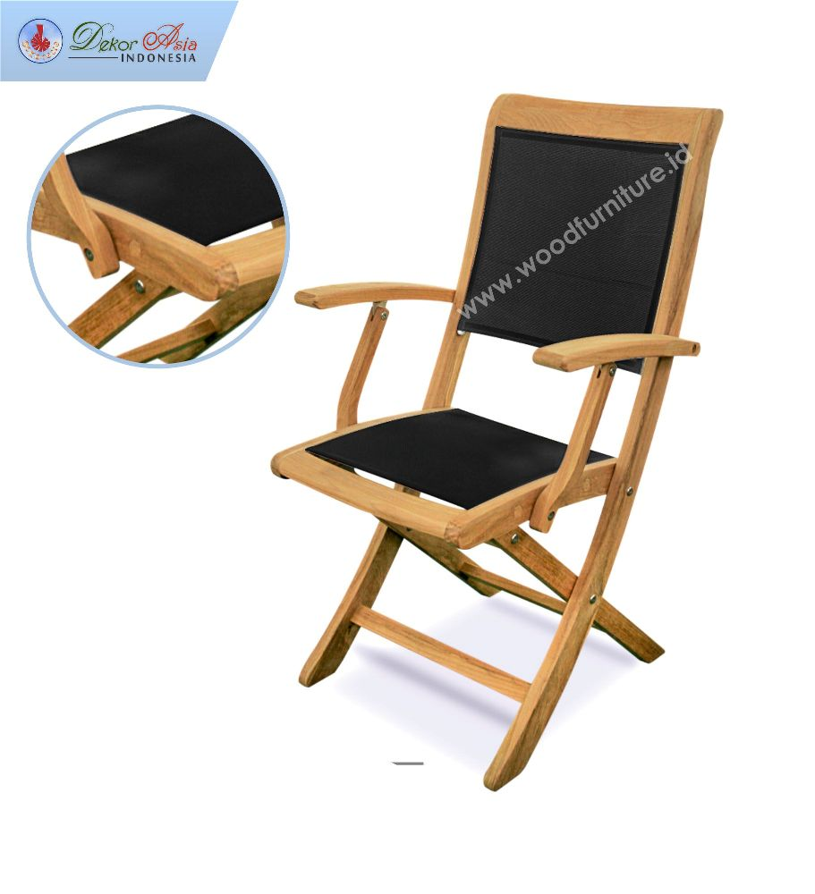 TEXAS FOLDING ARM CHAIR BLACK