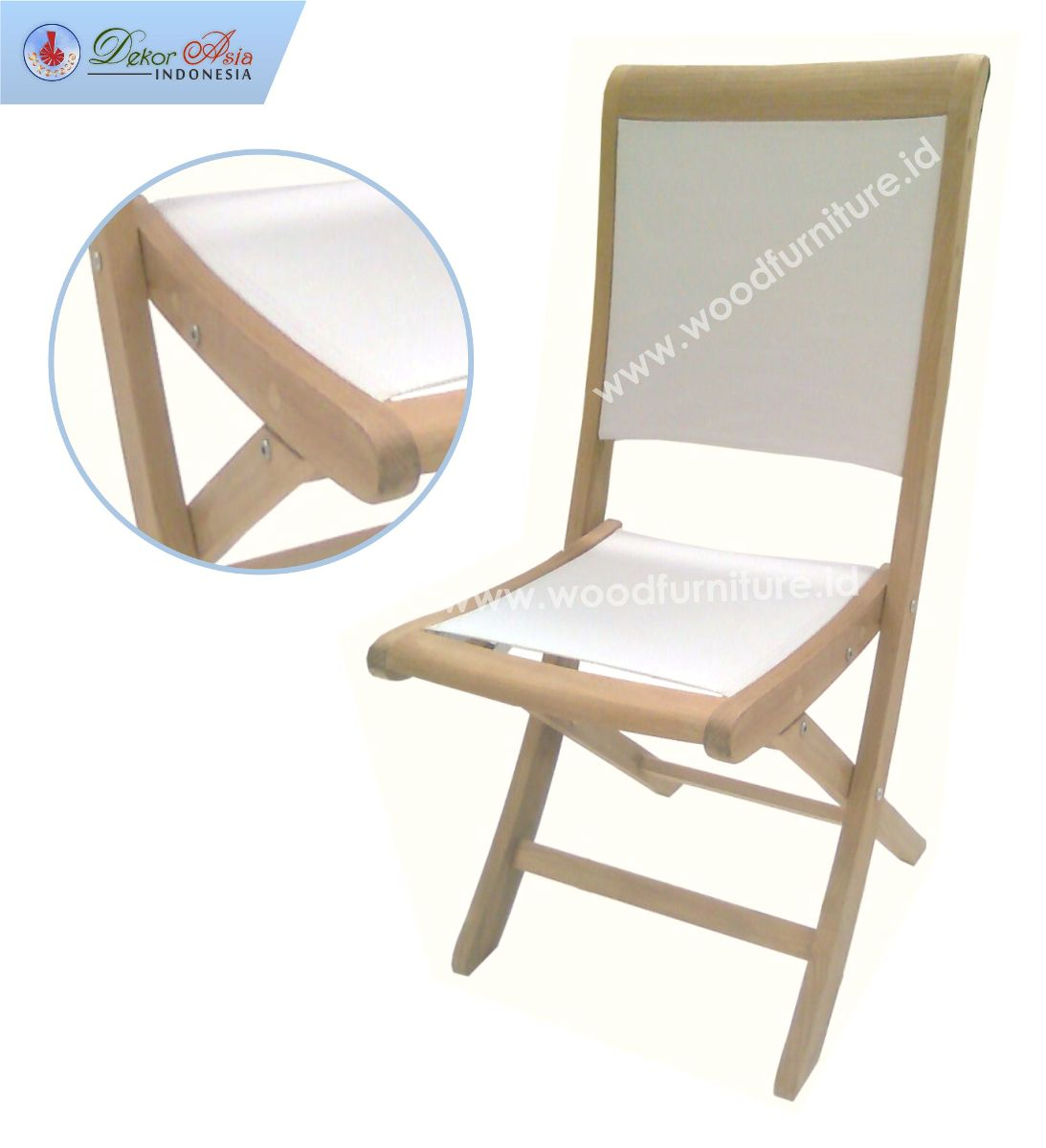 TEXAS FOLDING CHAIR WHITE